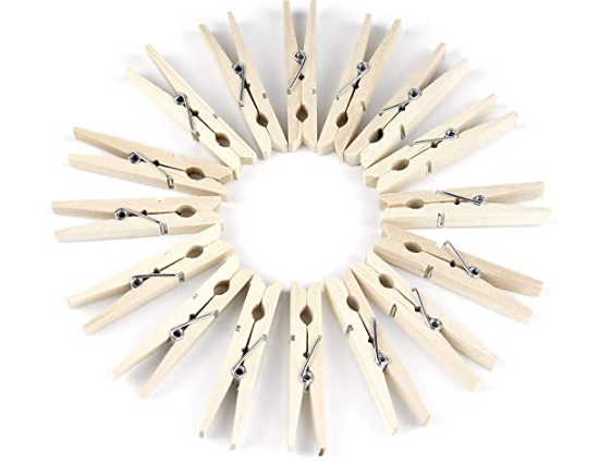 Eco Friendly Wooden Clothespin for Laundry, Arts & Craft - 50 pcs per pack