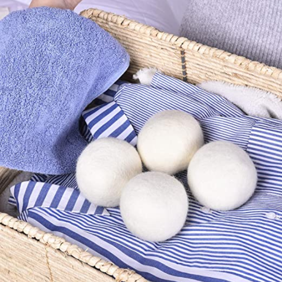 Eco Friendly Organic New Zealand Wool Dryer Balls XL Size - 6 pcs