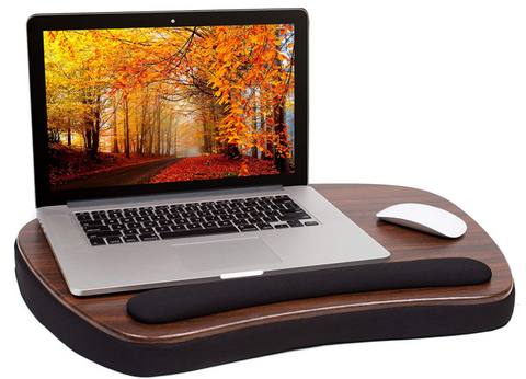 Oversized Memory Foam Lap Desk with Wrist Rest - Fits Up to 17 Inches