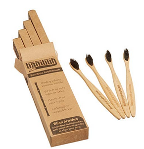 Eco-friendly Biodegradable Bamboo Toothbrush - 4 pcs