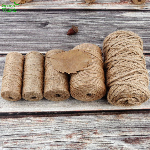 Eco Friendly Natural Jute Hemp Rope for Home Gifting Arts and Crafts - 100m | 328ft