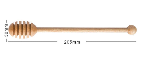 Wooden Honey Dipper Stick Spoon with Long Handle