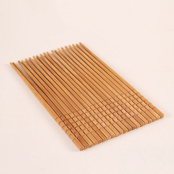 Eco Friendly Natural Handmade Bamboo Chopsticks - 10 pairs