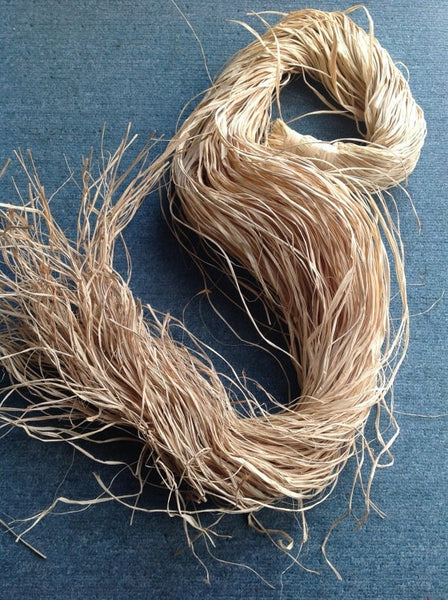 Eco Friendly Natural Raffia Straw Rope - 1.5 oz x 6