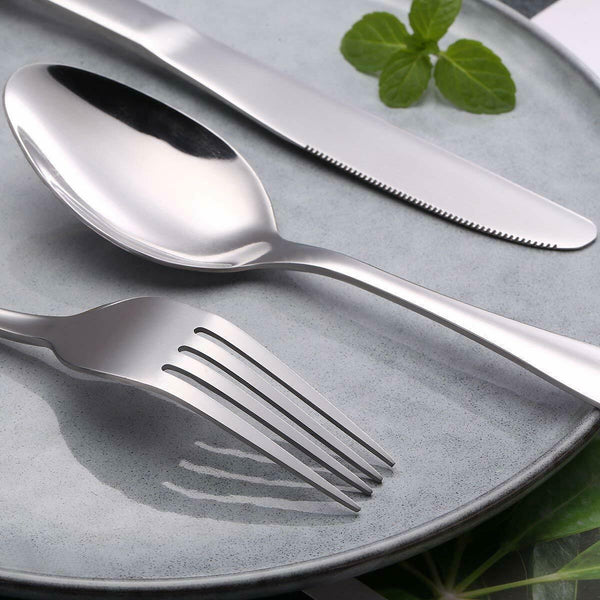Eco Friendly 7 Piece Reusable High Quality Stainless Steel Cutlery Set with Straw and Cloth Bag