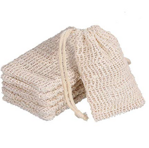 Eco Friendly Natural Exfoliating Sisal Soap Bags - 6pcs per set