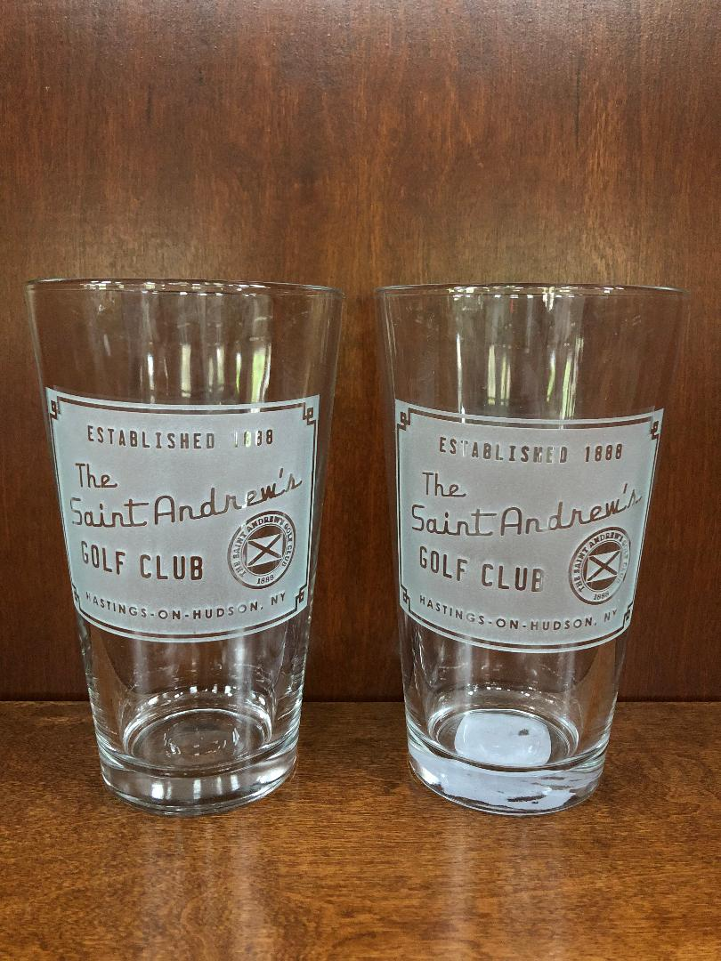 Signs by the Sea Pint Glasses