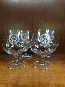 Sterling Cut Glass Fashion Brandy Glasses