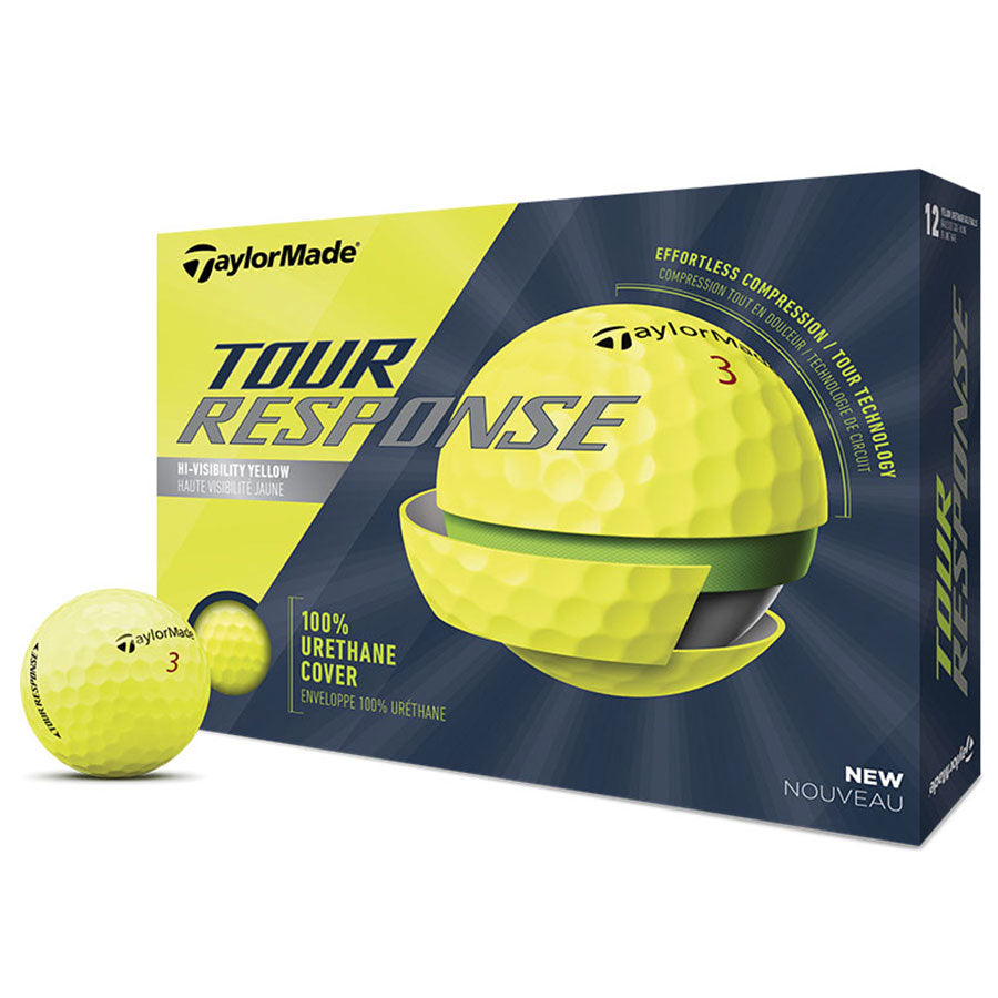 Taylormade Tour Response Yellow Golf Balls