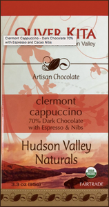 CLERMONT CAPPUCCINO - DARK CHOCOLATE 70% WITH ESPRESSO AND CACAO NIBS