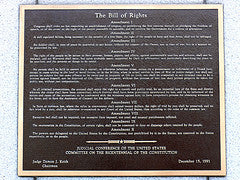 Bill of Rights on plaque