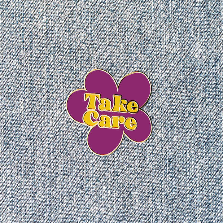 "Care Flower (1"" Enamel Pin)"