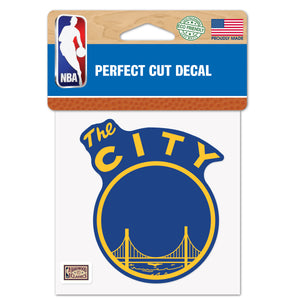 "Golden State Warriors 2021 HWC ""The City"" 4x4 Decal"