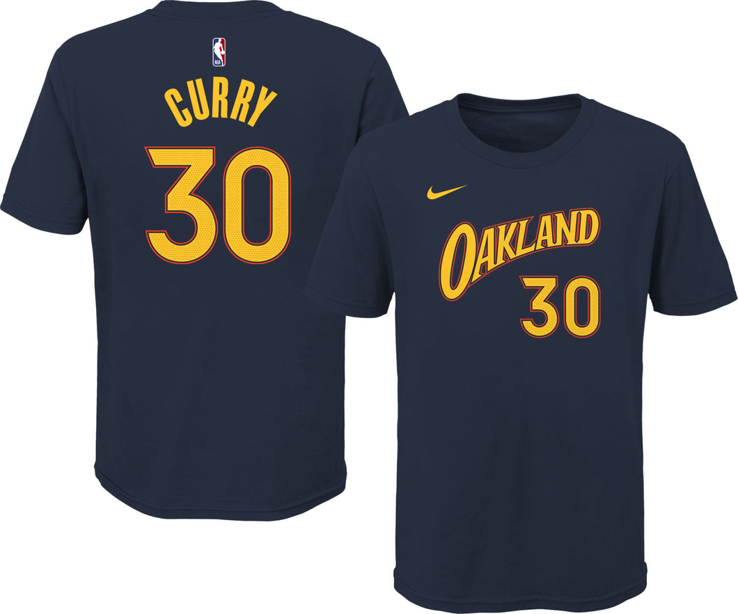 Youth Nike Name & Number Stephen Curry T-Shirt City Edition