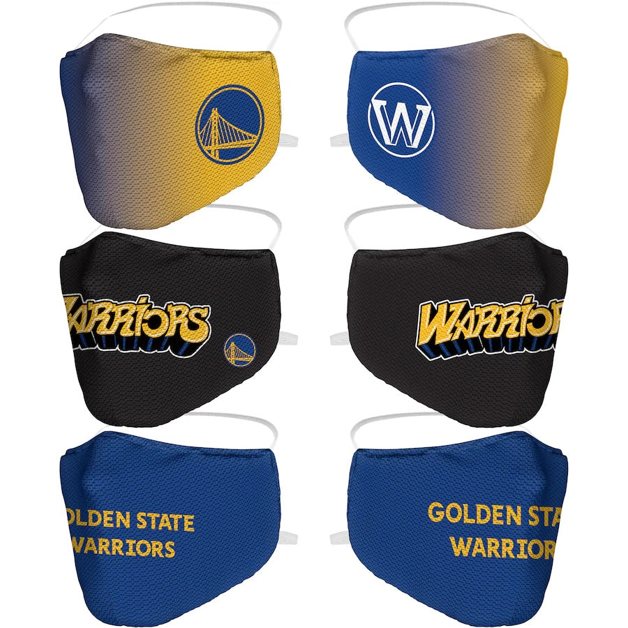 Adult Fanatics Branded Golden State Warriors Team Logo Face Covering - 3-Pack