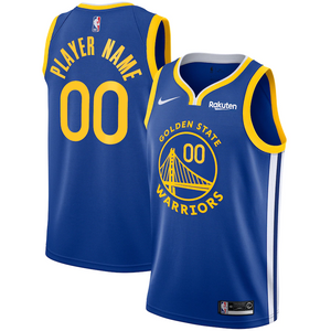 Men's Nike Royal Golden State Warriors Custom Jersey - Icon Edition