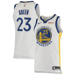 Men's Nike Draymond Green White Golden State Warriors Authentic Badge Jersey - Association Edition