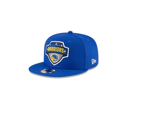 Youth New Era Royal Golden State Warriors 2020 Tip Off Logo 9FIFTY Snapback Hat