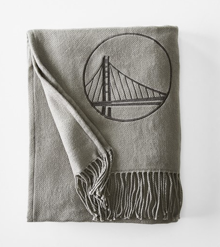 Williams Sonoma Warriors Acrylic Throw, Charcoal