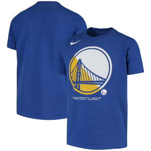 Youth Nike Royal Golden State Warriors Team Logo Performance T-Shirt
