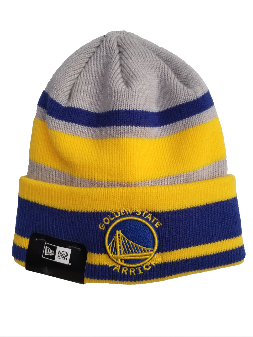 Golden State Warriors New Era Knit Layer Cap Gray
