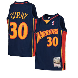 Youth Mitchell & Ness  Hardwood Classic Curry Jersey