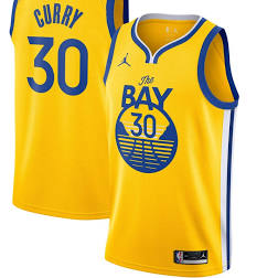 Men's Jordan Brand Authentic Jersey- Statement Edition Stephen Curry