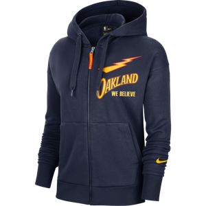 Women's Nike Navy Golden State Warriors 2020/2021 City Edition Logo Fleece