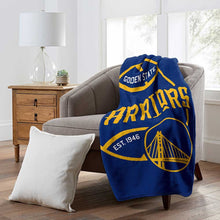 Load image into Gallery viewer, Golden State Warriors Northwest Raschel 50 x 60 Blacktop Blanket