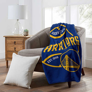 Golden State Warriors Northwest Raschel 50 x 60 Blacktop Blanket