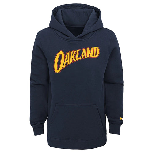 Youth Nike Navy Golden State Warriors 2020/21 City Edition Essential Club Pullover Hoodie