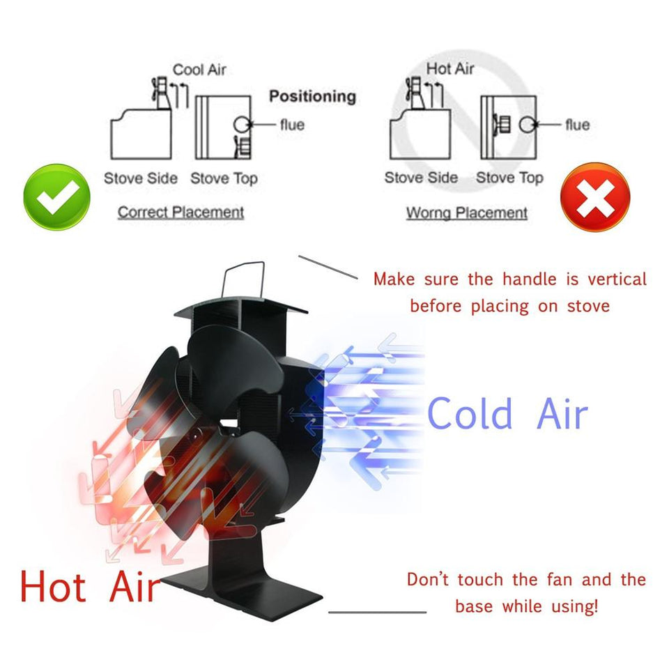 Fireplace Stove Fan - thebestb4u.com
