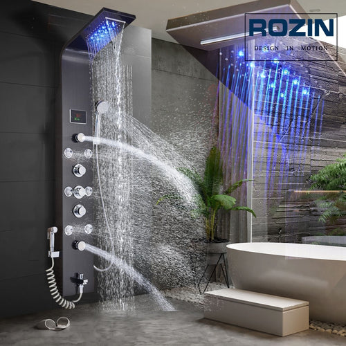 LED Light Shower Faucet Waterfall Rain - thebestb4u.com