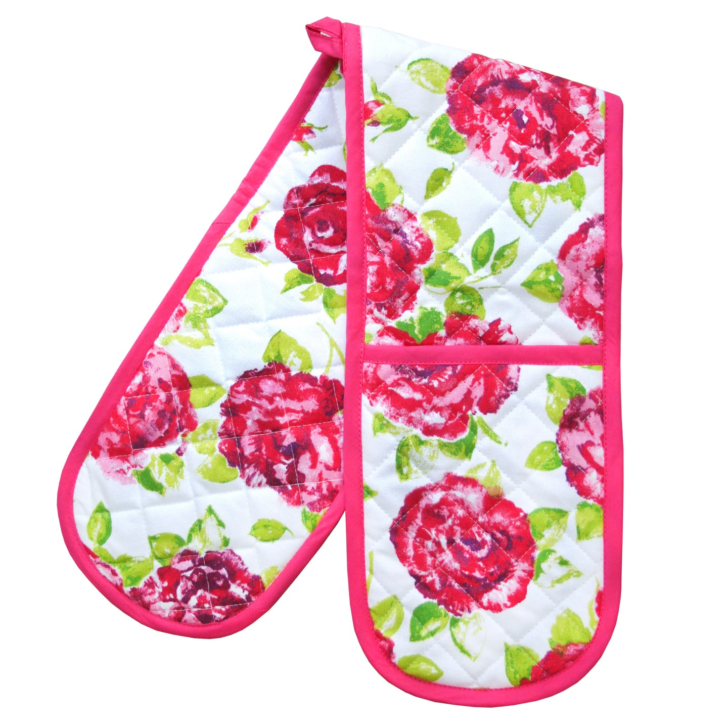 Bertha Floral Double Oven Gloves