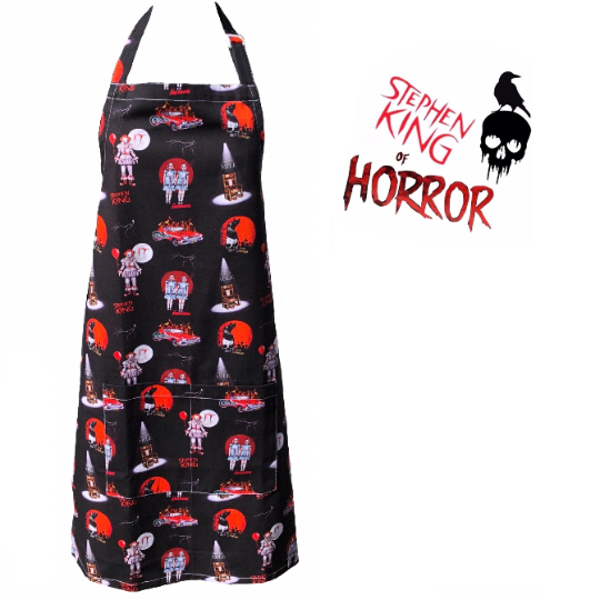Stephen King of Horror Black Apron . Cult Classic Horror Apron. Unisex Apron