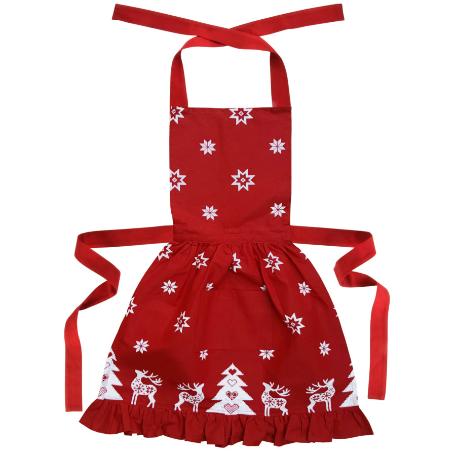 Betty Frilly Christmas Apron