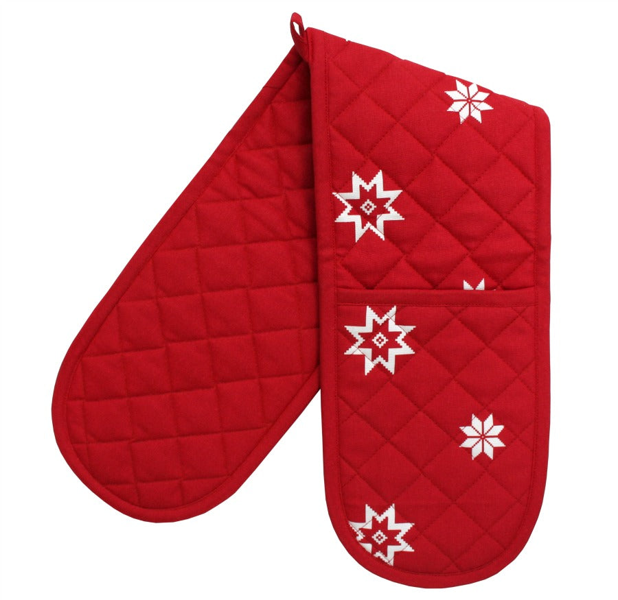 Bertha Christmas Double Oven Gloves