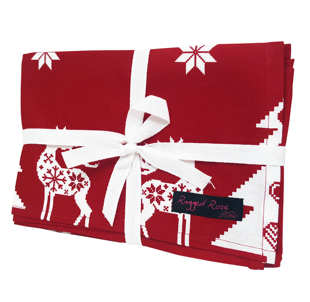 Christmas Reindeer Tea Towels
