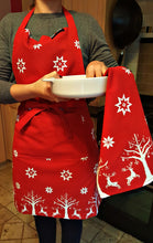 Load image into Gallery viewer, Christmas Reindeer Unisex Apron