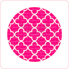 Load image into Gallery viewer, Quatrefoil Cupcake Stencil - Dijon