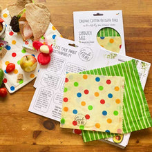 Load image into Gallery viewer, Beeswax Sandwich Bags - 2 Pack