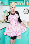 Cupcakes and Cocktails Womens Retro Apron - Pin Up Sweetheart Apron For Women