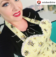 Load image into Gallery viewer, Busy Beeing Fabulous Womens Bee Apron. Bumblebee Queen Bee Retro Apron