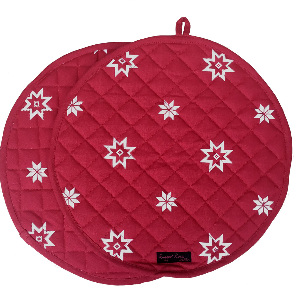 Christmas Aga Mats/Range Warmers/Chefs Lid Covers