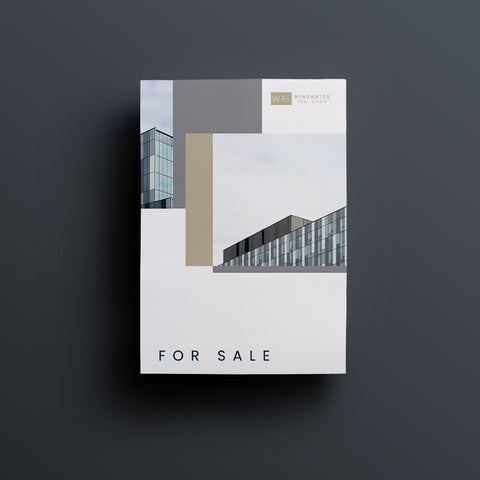 Commercial Real Estate Listing Brochure Template (Two Pages)