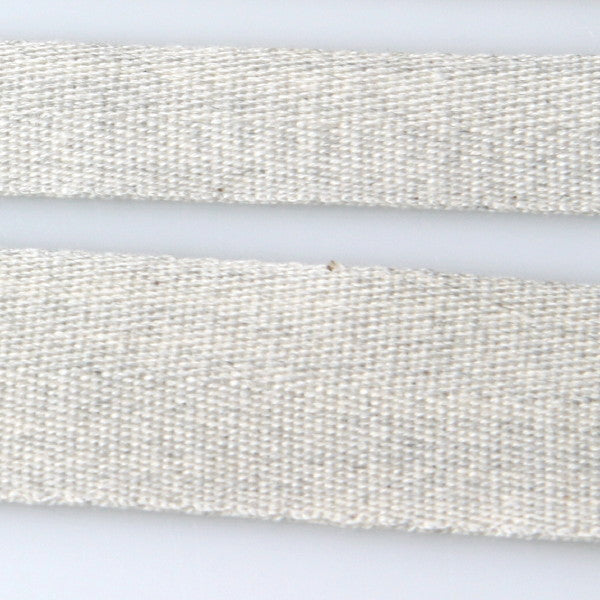 Cotton Herringbone Tape - 001 Pale Grey