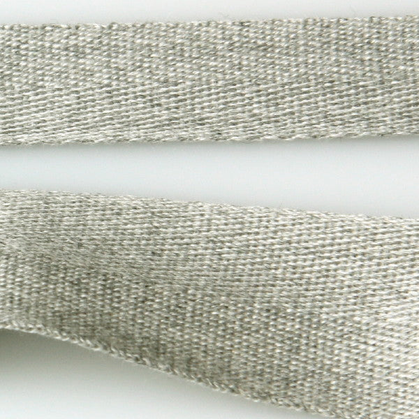 Cotton Herringbone Tape - Pebble Grey