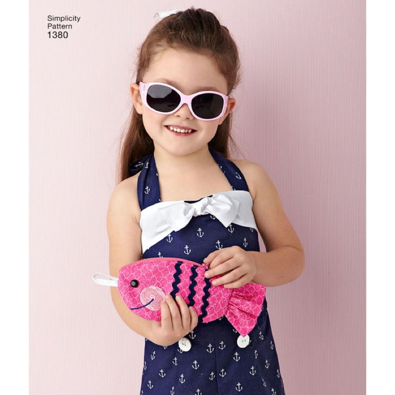 Simplicity Girl's 1380 - Swimsuit & Accessories