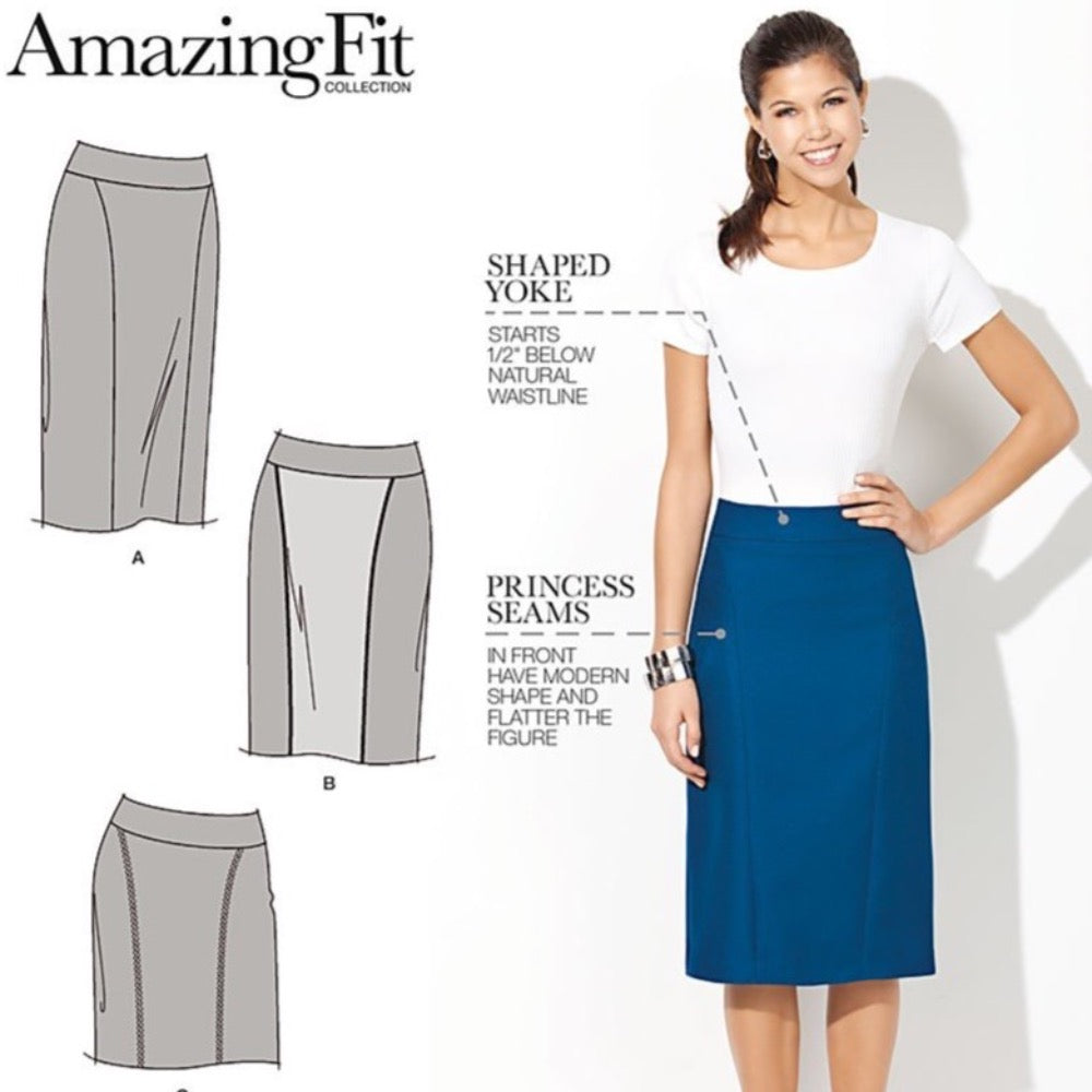 Simplicity - 1541 Amazing Fit Pencil Skirt