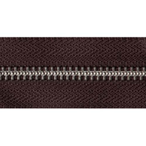 Nickel Open-Ended Zip - Brown 570